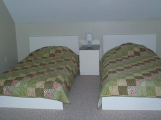 East Falmouth house photo - Third bedroom has twin beds and a set of bunk beds.