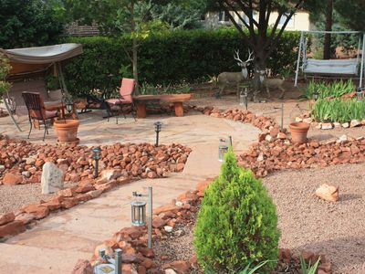 Sedona house rental - Backyard Red Rock relaxation