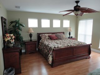 Crystal Beach house photo - Seawatch Master Bedroom w/ Private Bath & Deck w/ Gulf Views