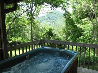Black Mountain cabin photo - Private Hot Tub with view of Watch Knob Mountain