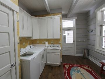 Laundry area and mud room