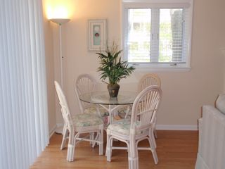 Bethany Beach townhome photo - The bistro table is a great place for your morning coffee or a game of cards.