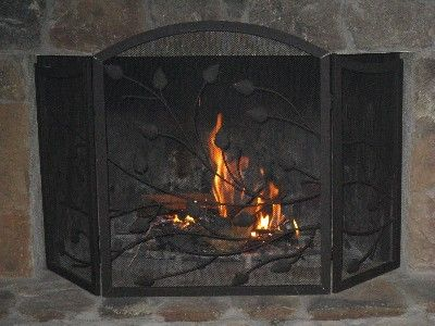 Real wood in the fireplace, crackling and warm.
