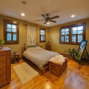 Spacious Master bedroom with queen bed.