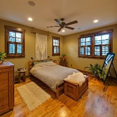 Black Mountain house photo - Spacious Master bedroom with queen bed.