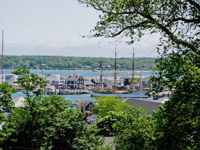 Martha's Vineyard Vacation Rental Vineyard Haven Harbor Water View From Roof Deck