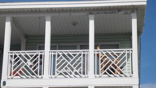 Tybee Island condo photo - Ground view of balcony