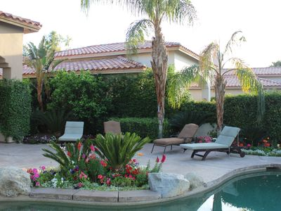 La Quinta house rental - Lounging around the pool