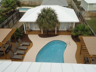 Crystal Beach house photo - View of Seawatch Cabana House and Pool area from Tower Room
