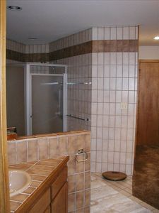 Fully tiled master bath