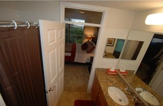 Tampa townhome photo - Master bath room w. separate tub and walk in shower