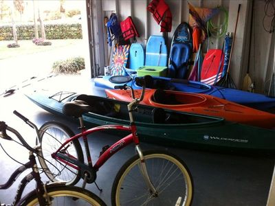 Fishing Rods, Kayaks, Boogie boards, Umbrellas, BIkes and more fun stuff!