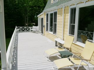 Harpswell cottage photo - Open deck is perfect to catch some rays or enjoy a morning cup of coffee . . .