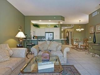 Naples condo photo - Living room, Kitchen & Dining areas