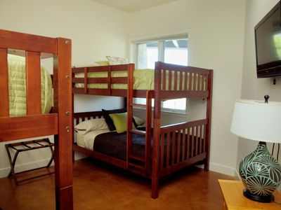 Bunk Room has Twin Bed over Twin and Double Bed over Double, Flat Screen TV