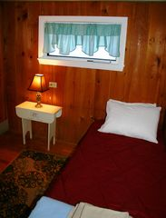 Gilmanton cottage photo - Bedroom with hideaway for two.