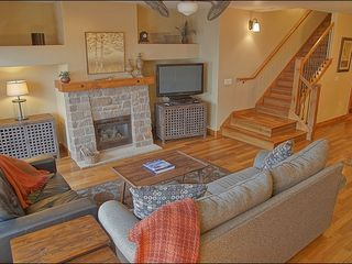 Steamboat Springs townhome photo - Reverse of Living Room shows Fireplace & HDTV