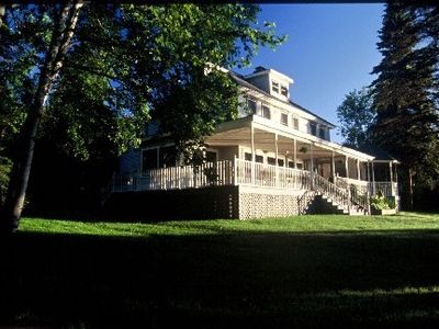 CAMP BEARBERRY-West Shore, Lake Placid.Historic home on the west shore.