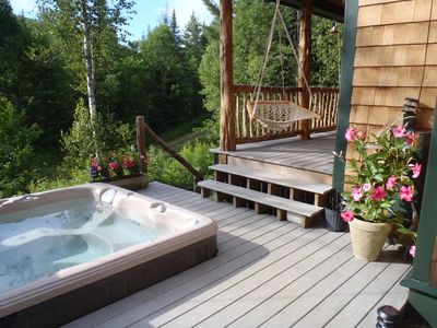 Hot tub and porch