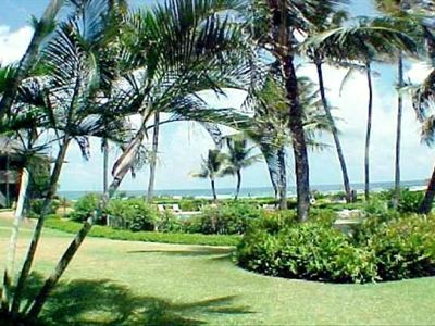 Enjoy the beautiful estate and gardens as you walk to the ocean or just stroll.