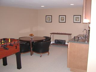 Grand Haven house photo - lower level rec-room