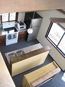 Massanutten chalet rental - kitchen from above