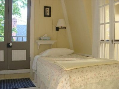 Oak Bluffs house rental - Common room twin with Juliet balcony