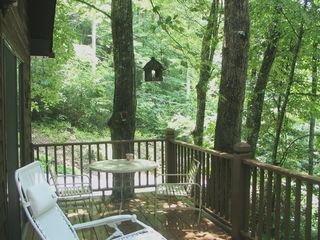 Bryson City chalet photo - Here's just a small section of your treehouse deck.