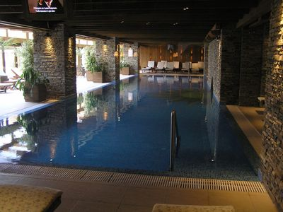 Luxury indoor heated pool + bar