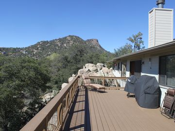 Prescott house rental - Views of Thumb Butte from awesome 500SF deck!