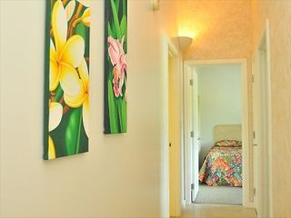 Napili condo photo - Hallway to bedrooms 2 and 3 and 2nd bathroom. Washer and dryer in condo as well.