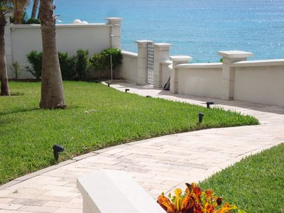 Beach access from the pool area (with shower)