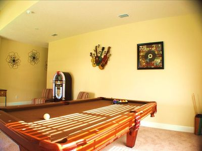 Games Room complete with Pool Table, TV, Juke Box And More!