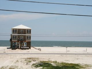 Dauphin Island house photo - View of the Gulf from the street side, Hear the R