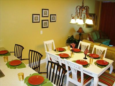 Dining for up to nine guests