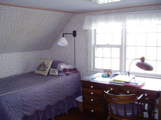 Block Island house photo - a twin bed opposite a double bed in one of the 2 upstairs bedrooms