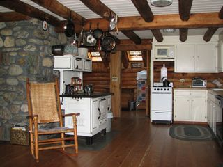 Eden property rental photo - Larkspur Log Home Kitchen