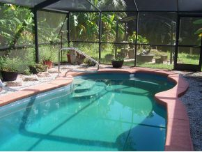 Crystal River house photo - Private heated pool with lanai