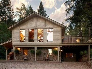 Teton Village house rental - There is a large deck to admire the scenery