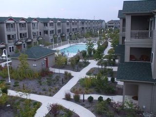2 Large Balconies Over Look Courtyard And Pool - Wildwood townhome vacation rental photo