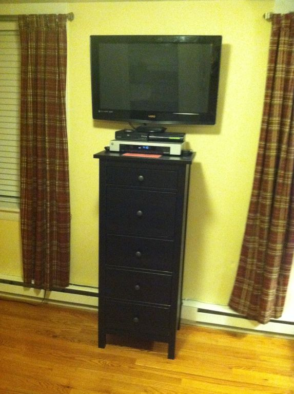 Plasma TV and Chest of Drawers