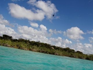 Bacalar studio photo - The colour of the water is changing a few times a day