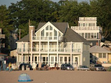 South Haven house rental - View from beach