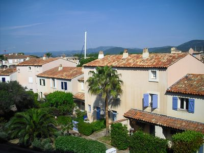 Twin bedroom view towards Port Grimaud & village