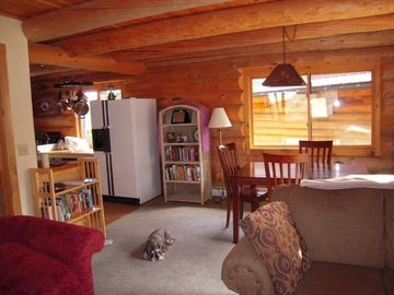 Blue Moon Cabin's cozy interior