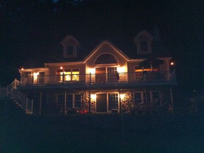 Lake Winnisquam house rental - Nighttime.