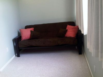 Queen Size Futon in Master Bedroom