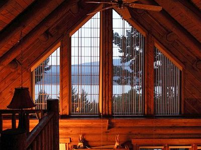Eastsound cabin rental - View of the sound from the loft area