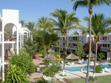 Mazatlan condo rental - Enjoy our private condo swimming pool and relax in the well manicured gardens