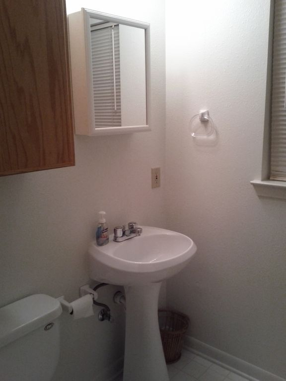 2nd bath upstairs- has tub+ shower